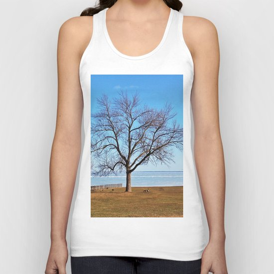 The Tree by the Frozen Lake Unisex Tank Top
