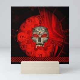 Awesome skull with celtic knot Mini Art Print