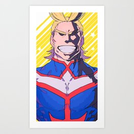 Smiling All Might Art Print