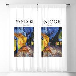 Van Gogh - Terrace at night Blackout Curtain