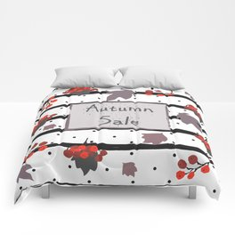 Autumn Sale. Advertising Card Comforters