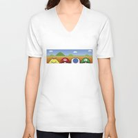mario bros V-neck T-shirts featuring Mario Bros by Bazingfy