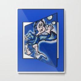 blue boy runnin' Metal Print
