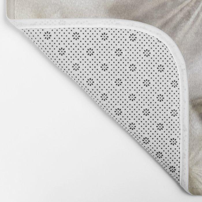 Into the deep- Dandelion Seed Head- Close up Bath Mat