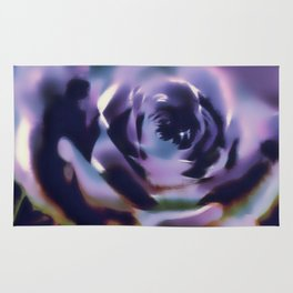 Illusion of a rose in moonlight Rug