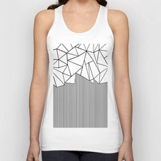 Ab Lines White Unisex Tank Top