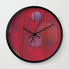reddish sphere Wall Clock
