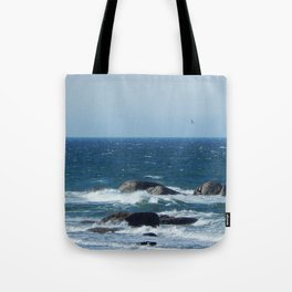Bird over the Circle of Rocks Tote Bag