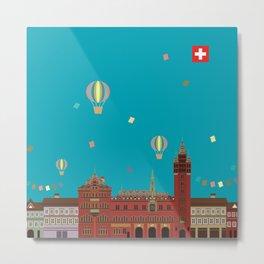 Basel Rathaus Festival Metal Print