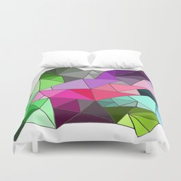 perfect colors in an imperfect configuration Duvet Cover