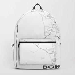 Minimal City Maps - Map Of Borisov, Belarus. Backpack