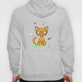 Nerdy Cat - Orange Hoody