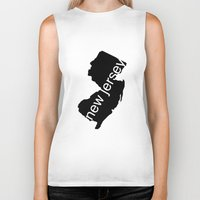 new jersey Biker Tanks featuring New Jersey by Isabel Moreno-Garcia