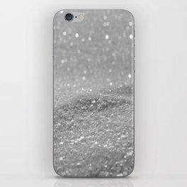 Glitter Silver iPhone Skin