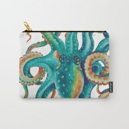Octopus Tentacles Teal Green Watercolor Art Carry-All Pouch