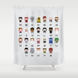 Doctor Who Alphabet Shower Curtain