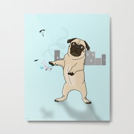 Attack of the Massive Pug!!! Metal Print