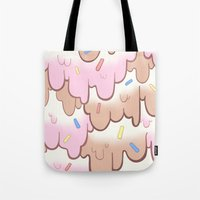 icecream Tote Bags featuring icecream by QueenBees