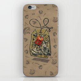 Tea bag iPhone Skin