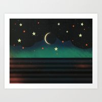 Abstract Moonscape Art Print