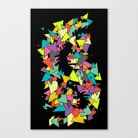 triangles Canvas Prints featuring Triangles  by AtomicChild