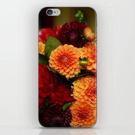 Autumn Dahlias iPhone Skin