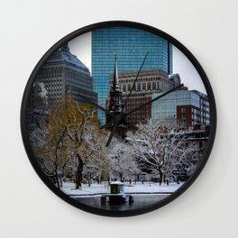 Winter in Boston Wall Clock