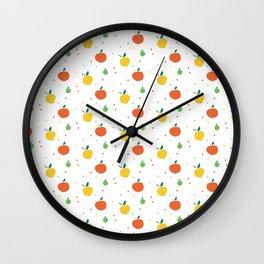 Citrus Fruit Pattern Wall Clock