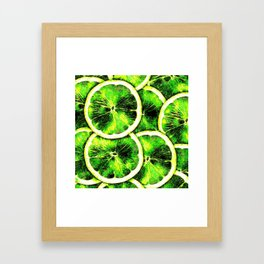 Digital Lime Framed Art Print