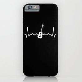 Ukulele Heartbeat Uke Love Funny Gift iPhone Case
