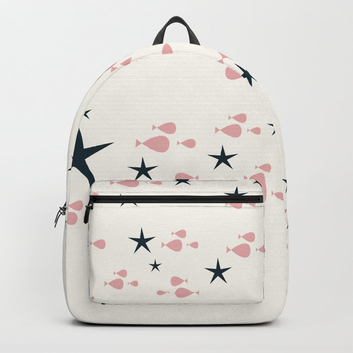 fish and stars pink Backpack