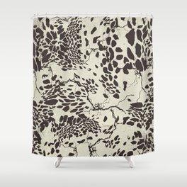 Spots B.W Shower Curtain