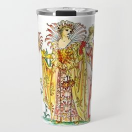 Vintage Tiger-Lily Lady Goddess Travel Mug