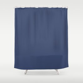 Gallant Dark Blue Solid Color Pairs To Sherwin Williams Dignified SW 6538 Shower Curtain