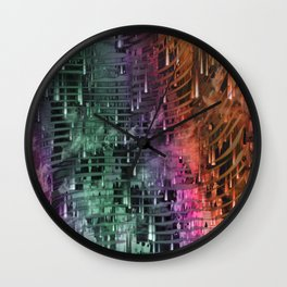 Spatial Factor 101 / Texture 30-10-16 Wall Clock