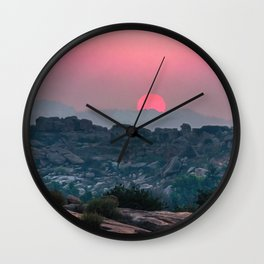 Otherworldly sunrise of Hampi, India Wall Clock