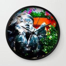 Cherub and flowers Wall Clock