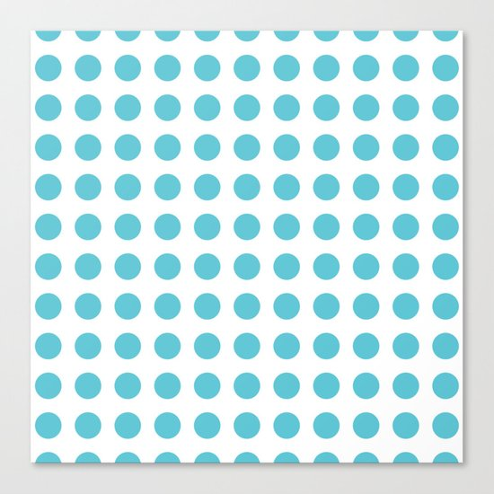 Simply Polka Dots in Seaside Blue Canvas Print