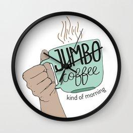 Jumbo Coffee Morning Wall Clock