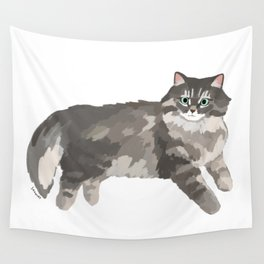 Norwegian forest cat Wall Tapestry