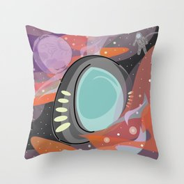 SpaceTravels Throw Pillow