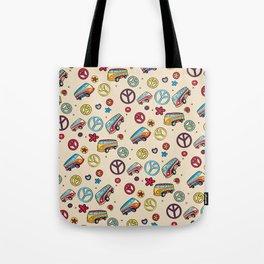 Retro  Hippie  Pattern 2 Tote Bag