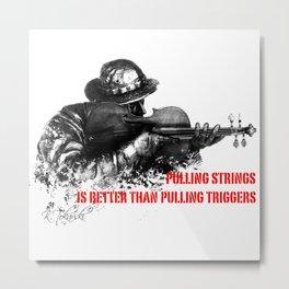 Violin Sniper Metal Print