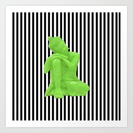 My  inner Green Buddha   Namaste Pop Art Buddha Kunstdrucke