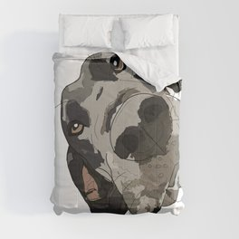 Great Dane dog in your face Comforters