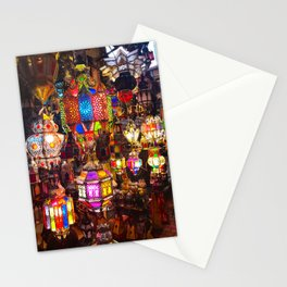 Lamps in the Souk, Fez Morocco, Africa Stationery Cards