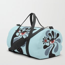 Abstract Surreal Double Red Eye Duffle Bag