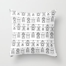 Hand-drawn 'Lantern' design Throw Pillow