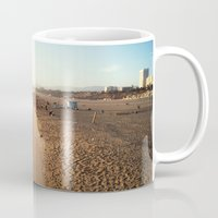 santa monica Mugs featuring Santa Monica by Kelli Anne