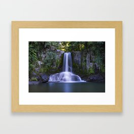 Waiau Falls Coromandel New Zealand Framed Art Print
